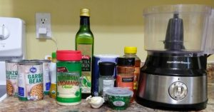 all the ingredients for Easy Homemade Toddler Approved Hummus