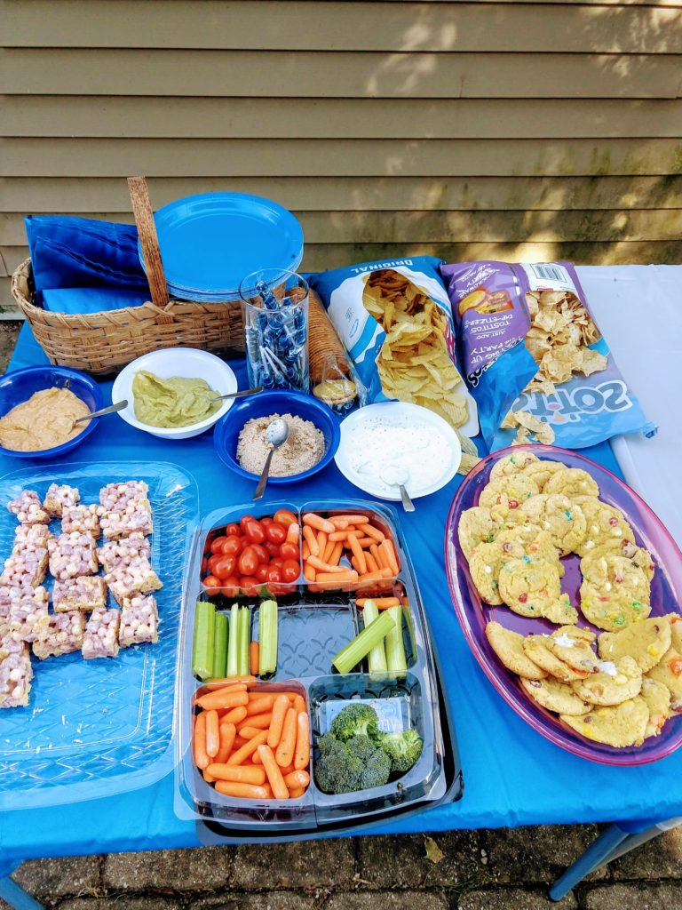 Party Food ready for the party