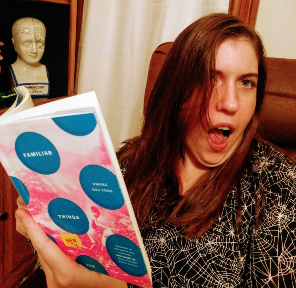 woman shocked by novel