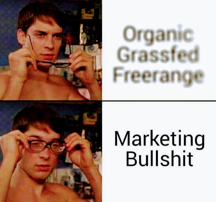Meme about food advertising