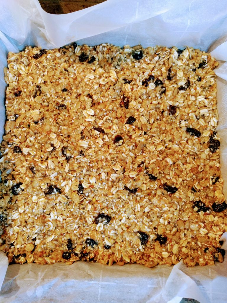 Homemade vegan granola bars
