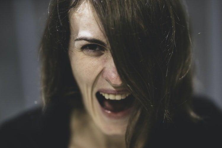woman screaming yelling