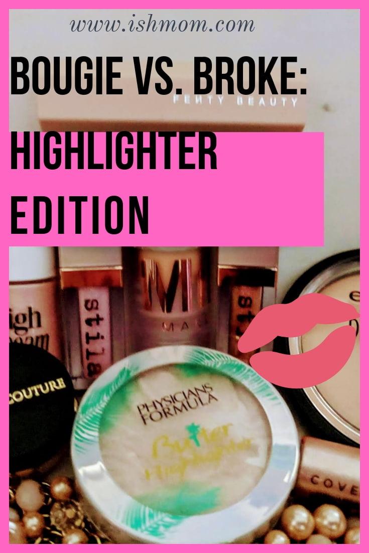 bougie vs broke highlighter edition pinterest graphic