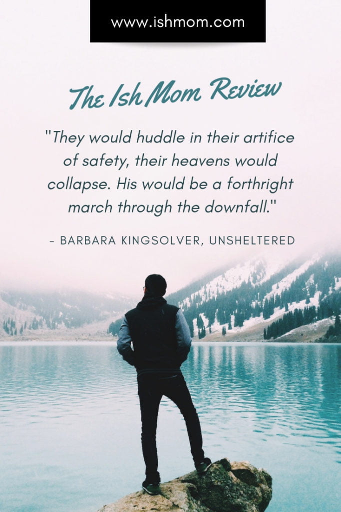 man looking at lake quote from barbara kingsolver written above