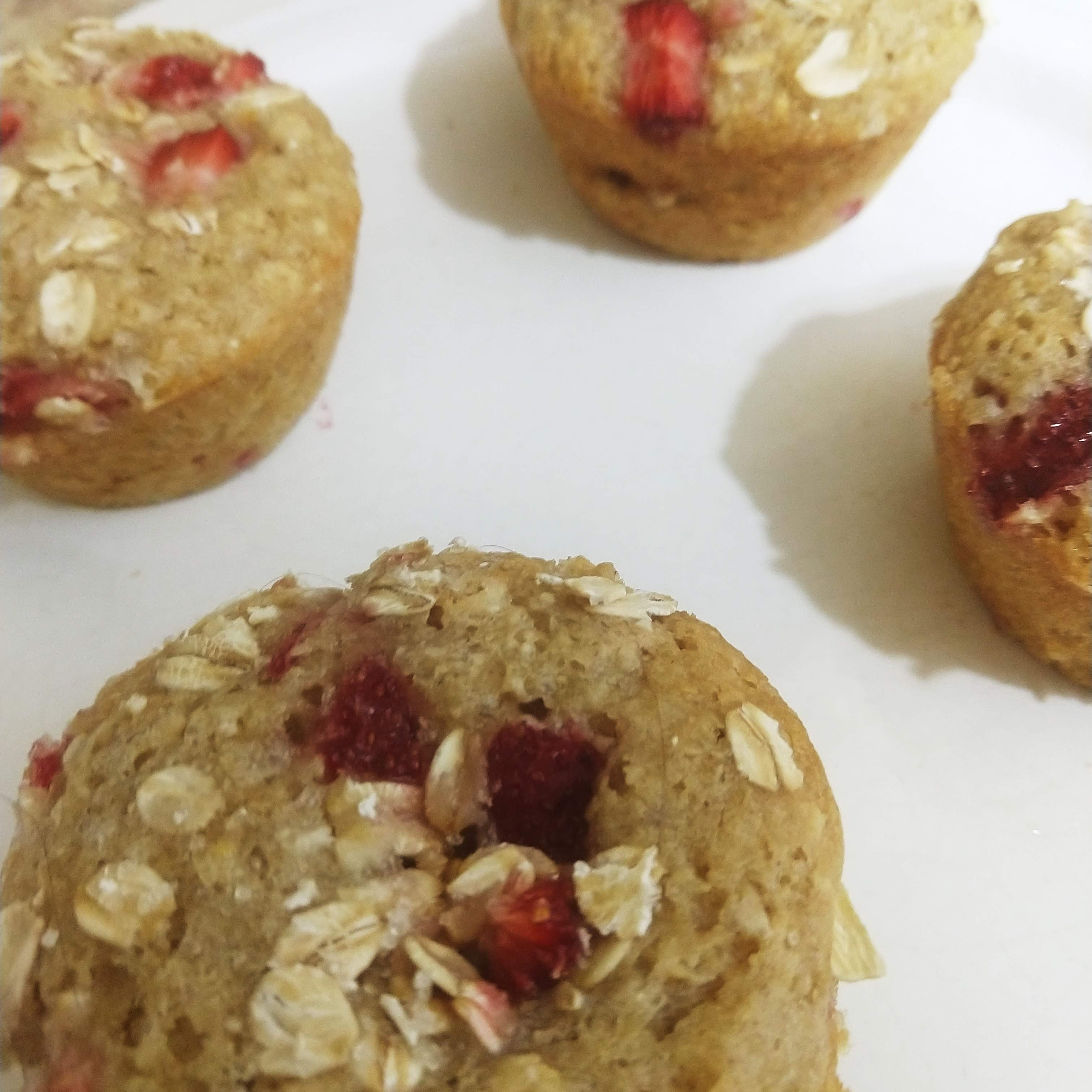 vegan strawberry muffins