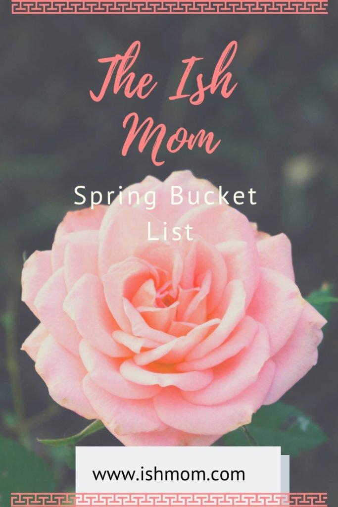 spring bucket list pinterest graphic