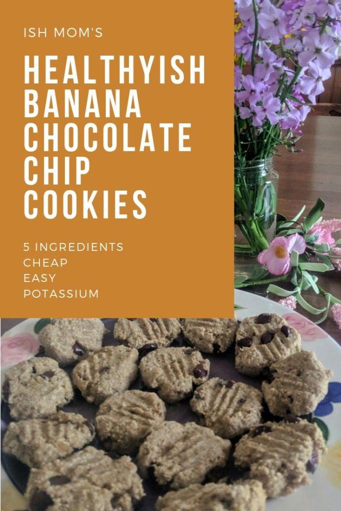 banana chocolate chip cookies pinterest