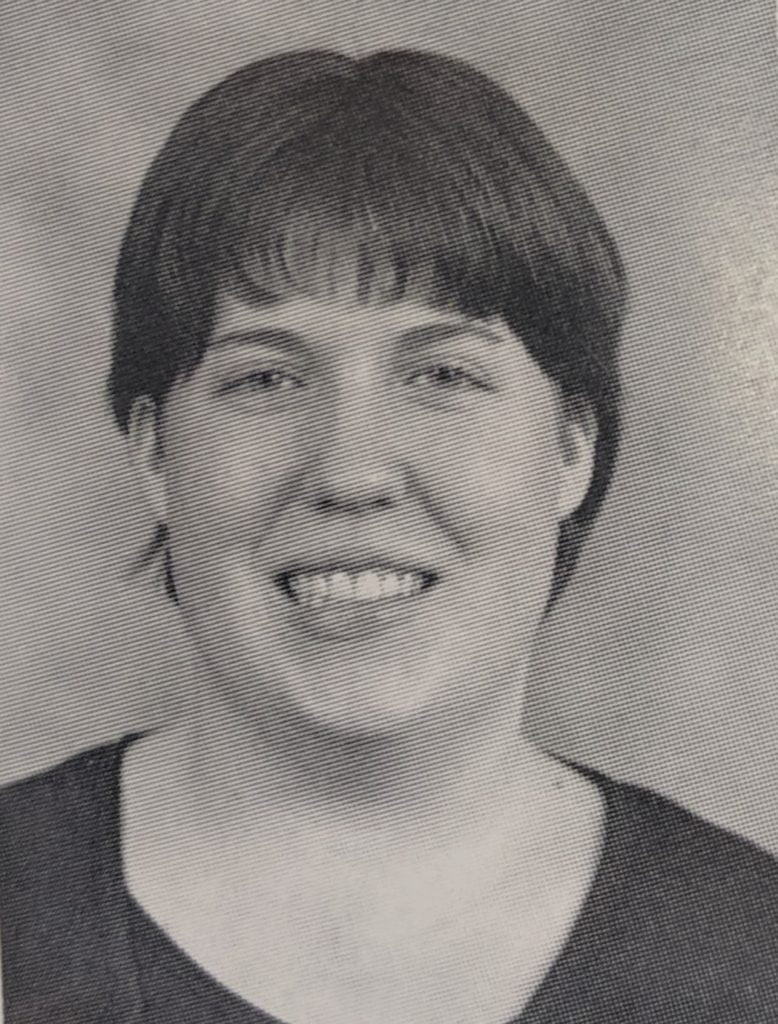 Megan's college yearbook photo