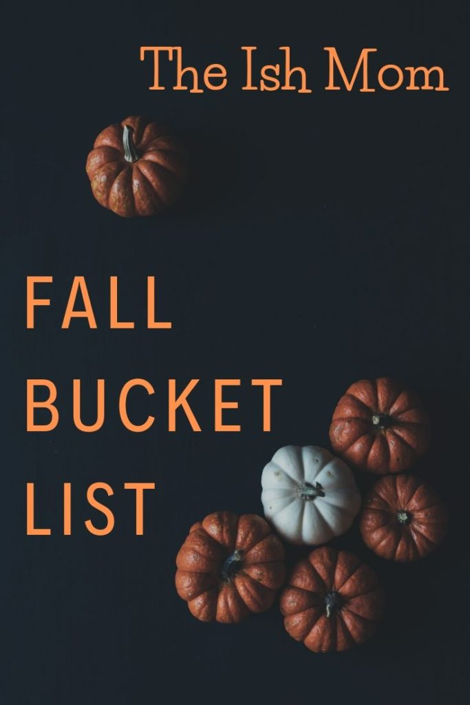 the ish mom fall bucket list pinterest graphic