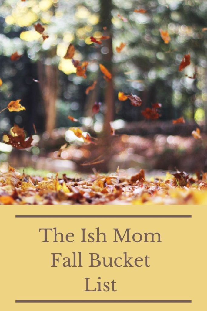 ish mom fall bucket list pinterest graphic