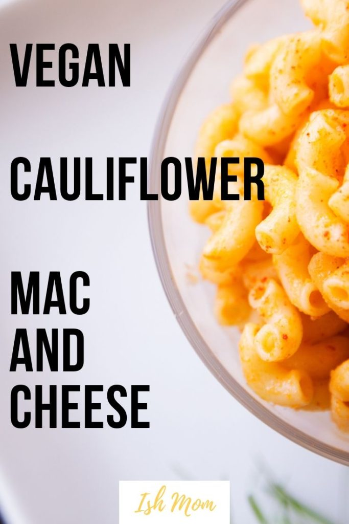 vegan cauliflower mac and cheese pinterest pin