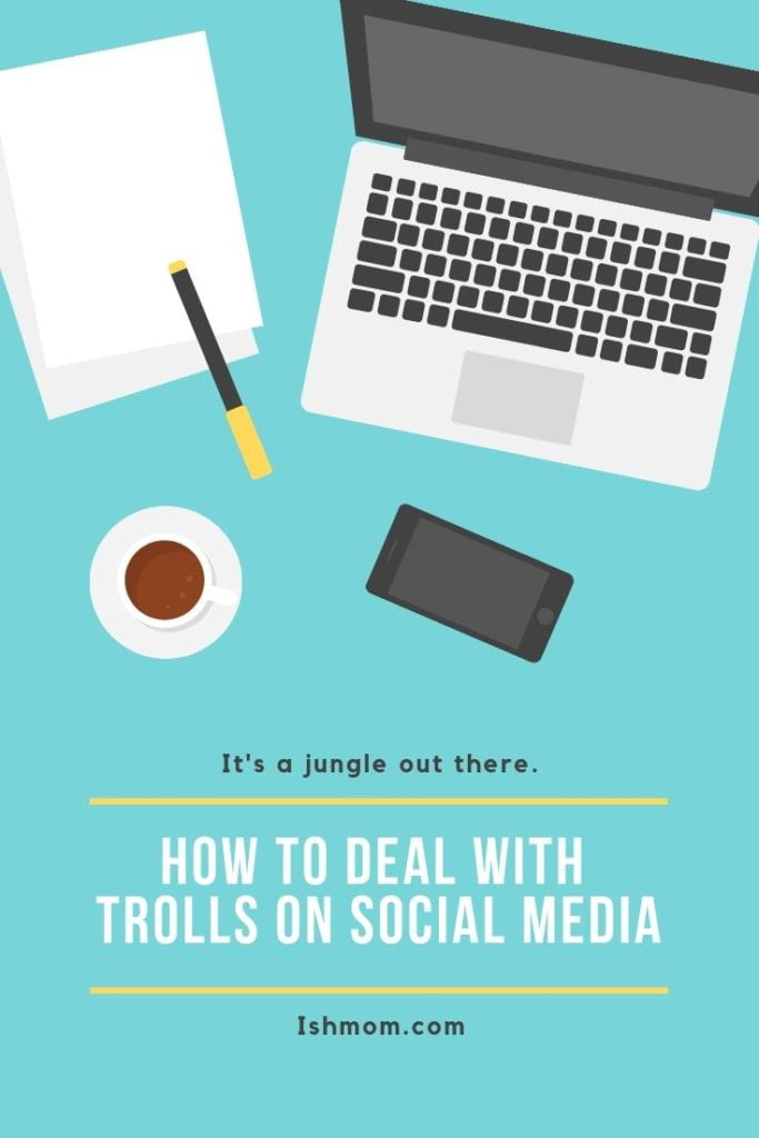 how to deal with trolls on social media pinterest graphic