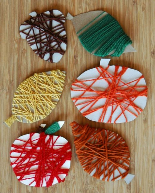 fine motor skills fall wrapping craft activity