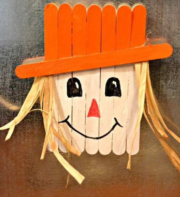popsicle magnet fall craft for toddlers