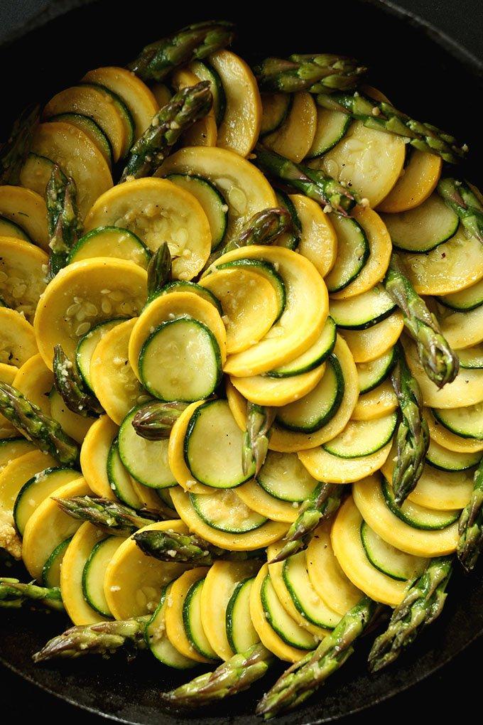 plate of vegan zucchini gratin
