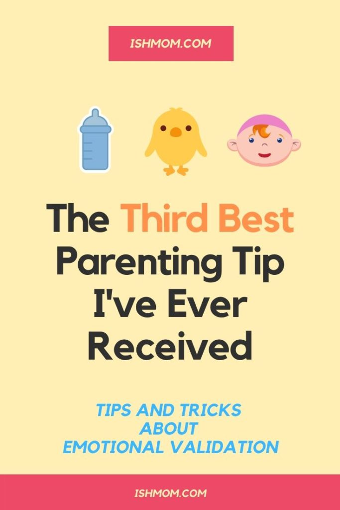 third best parenting tip pinterest graphic