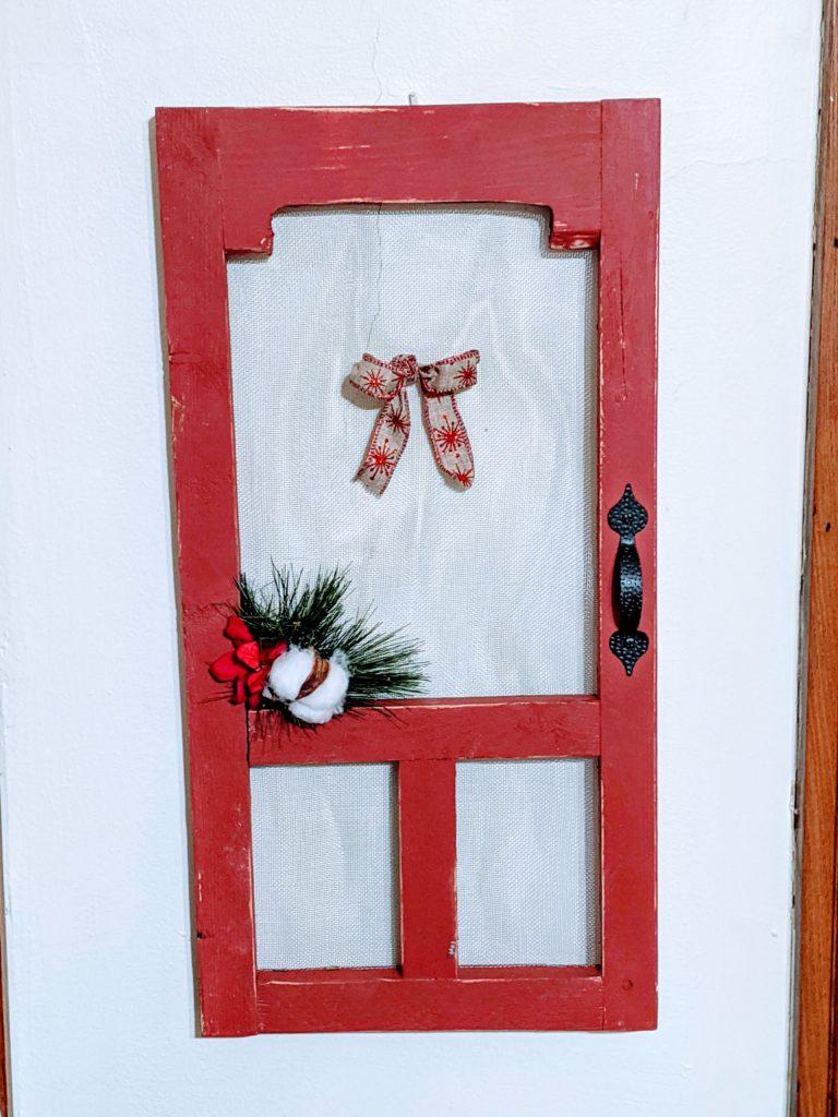 rustic woodworking mini christmas screendoor from beyond country