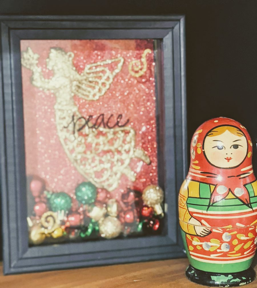 Christmas shadow box by Whitney French