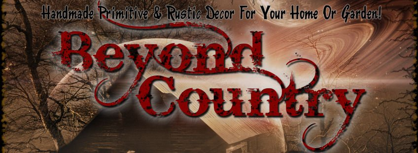 Beyond Country primitive woodworking decor logo