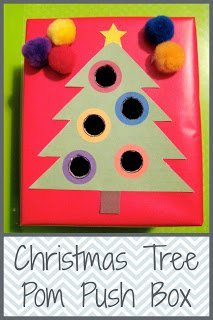 pom pom christmas tree push box toddler activity