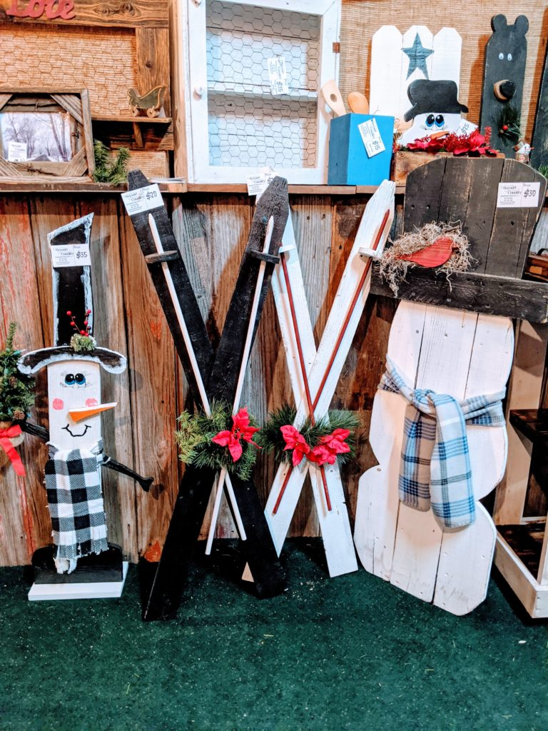 primitive woodworking snowman stands from beyond country