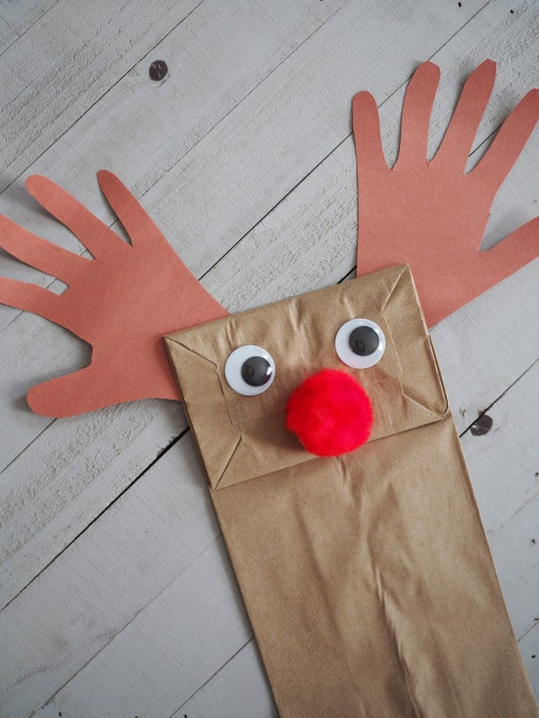 paper bag reindeer from the chirping moms