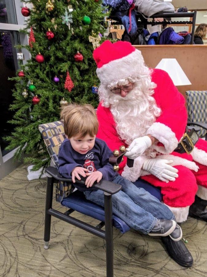 using social stories got big a ready to meet santa claus