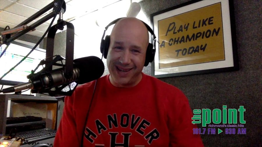 phil quinn on 101.7 The Point's morning show