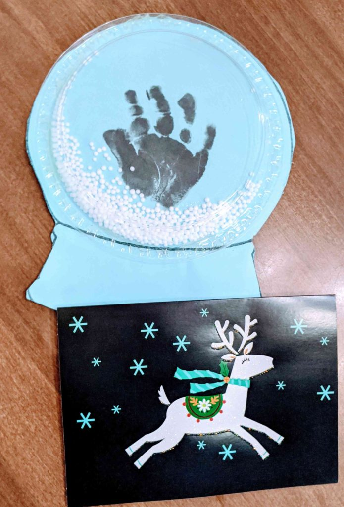 snow globe toddler christmas craft idea