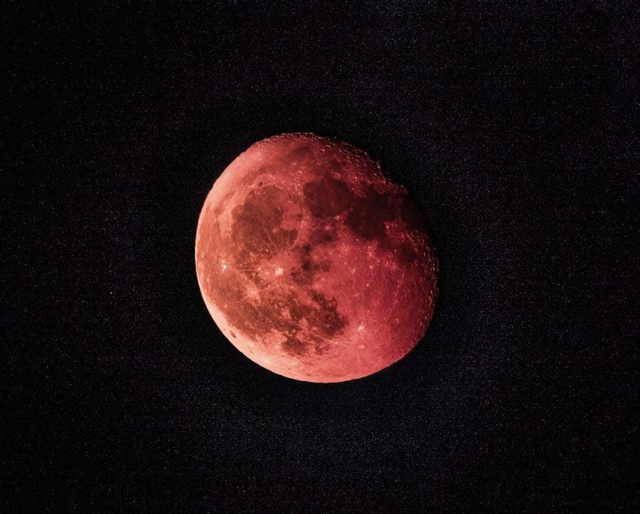 blood autumn moon