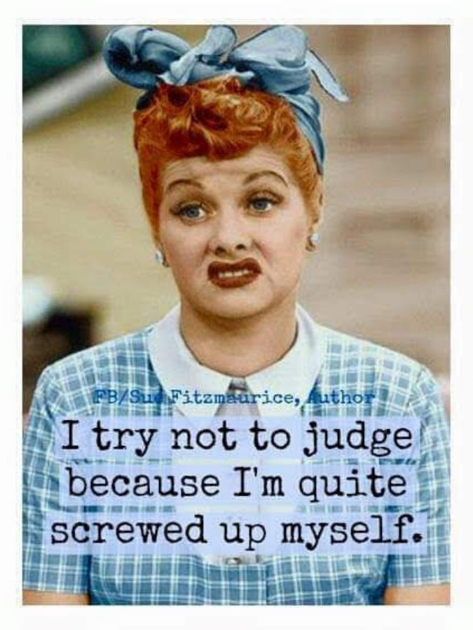 lucille ball try not to judge meme