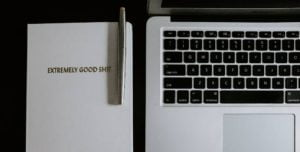 laptop used to write blog