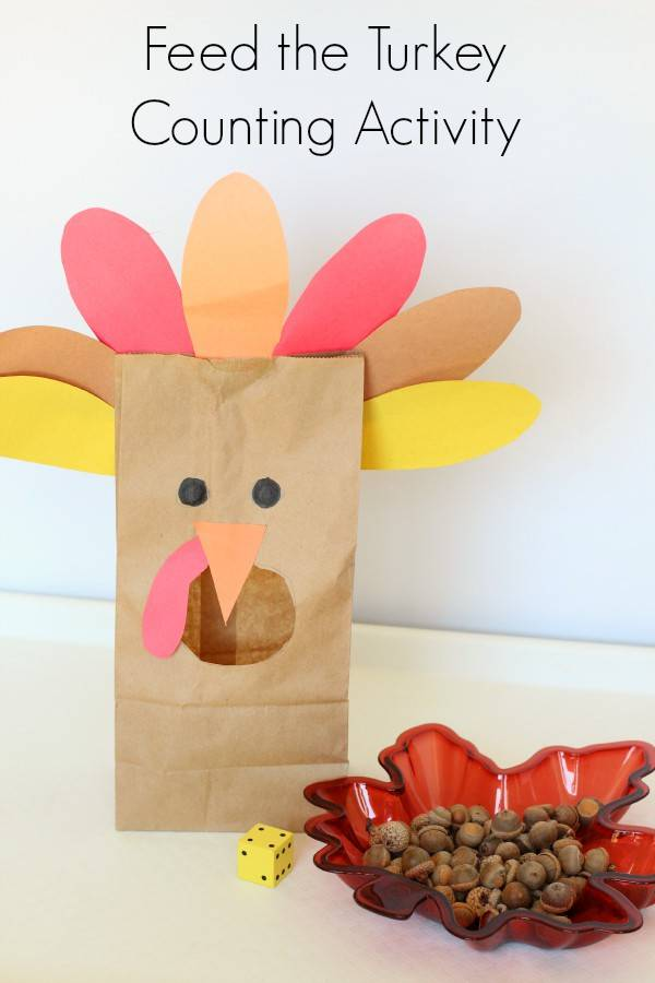 feed the turkey thanksgiving counting activity for toddlers and preschoolers
