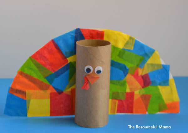 toilet paper roll turkey thanksgiving activity for toddlers and preschoolers