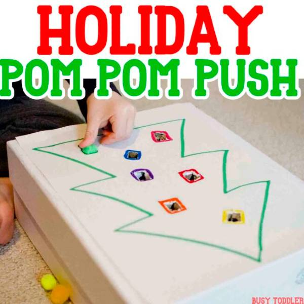 easy developmental christmas activity for toddlers and preschoolers