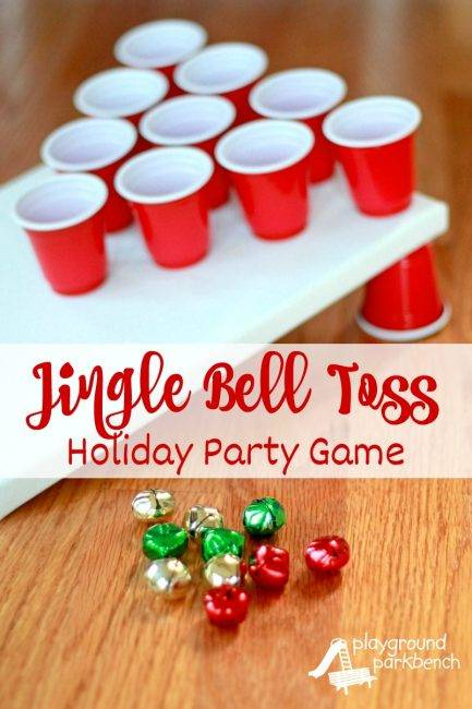 christmas jingle bell toss activity for toddlers and preschoolers