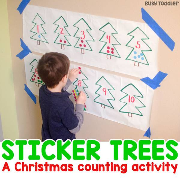easy christmas counting activity for toddlers and preschoolers