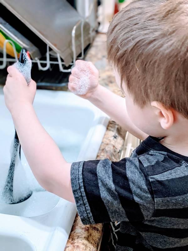 autistic kid doing sensory activity for autism