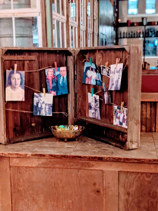 vintage suitcase with old family photos at margaret's vintage boutique in richmond indiana