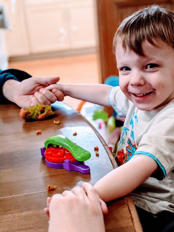 play doh sensory activity for autism