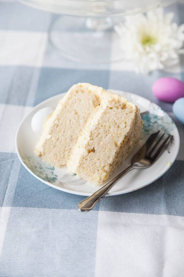 Vegan Easter treat lemon sponge cake
