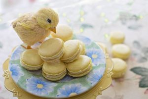 vegan treats for easter with stuffed chick