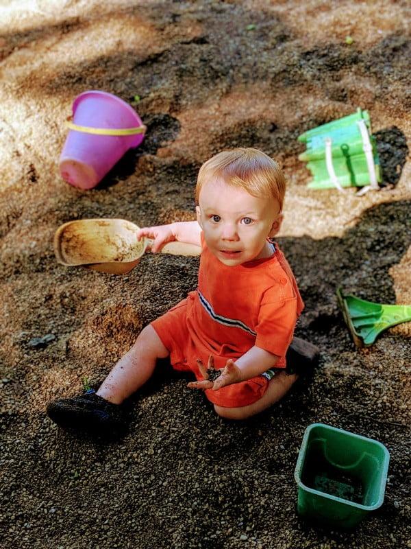 baby enjoying a wayne county, indiana summer bucket list