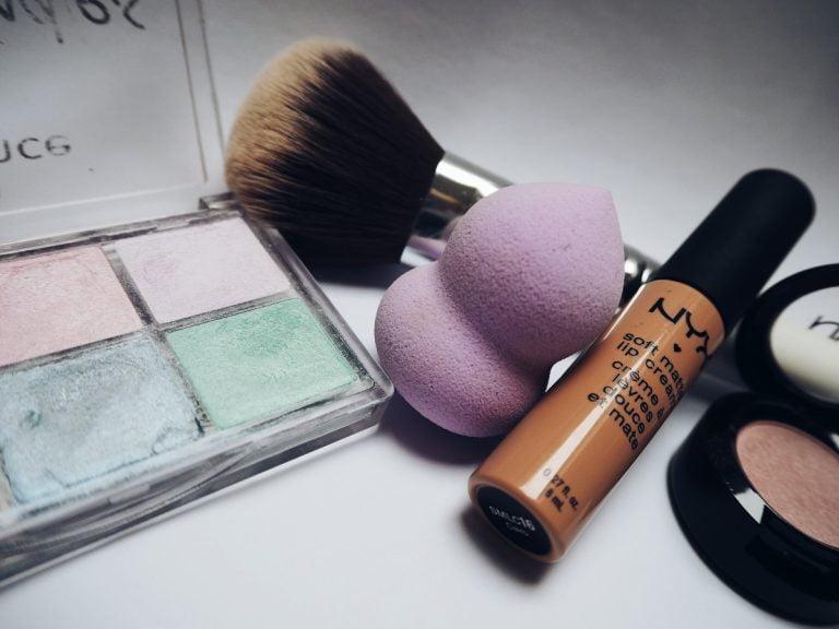 makeup and makeup brush