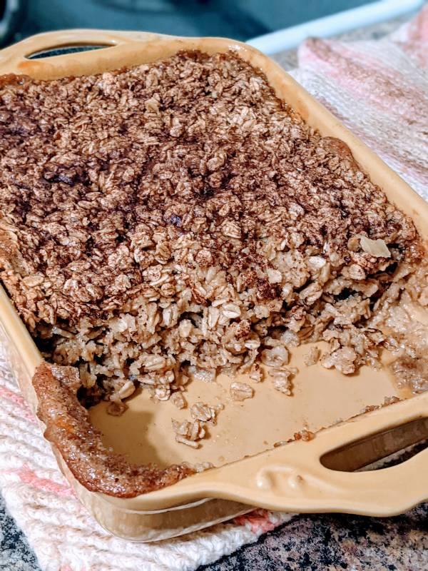 veganish brunch baked oatmeal